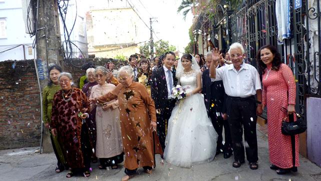 Lễ cưới Nhung Trần
