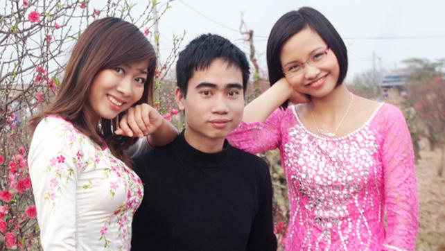 Vườn đào Nhật Tân