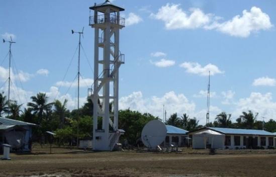 Tháp kiểm soát ở sân bay do Philippines xây dựng trên đảo Thị Tứ thuộc quần đảo Trường Sa của Việt Nam. Ảnh: AFP