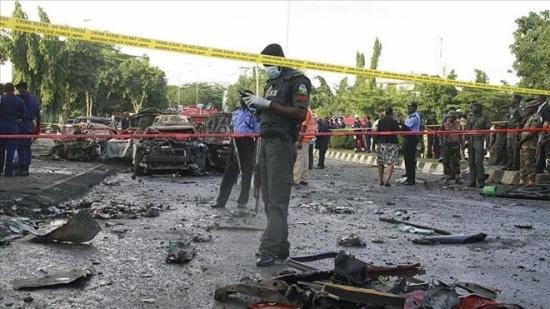 Cảnh sát phong tỏa hện trường vụ đánh bom. (Nguồn: aa.com.tr)