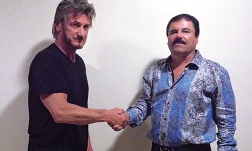 Diễn viên Hollywood Sean Penn (trái) trong cuộc gặp với trùm ma túy Joaquin Guzman. Ảnh: Rolling Stone