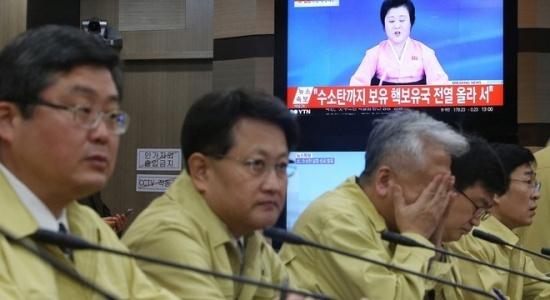 Các quan chức Bộ Ngoại giao Hàn Quốc tham dự cuộc họp khẩn sau khi Triền Tiên thử hạt nhân lần thứ tư.