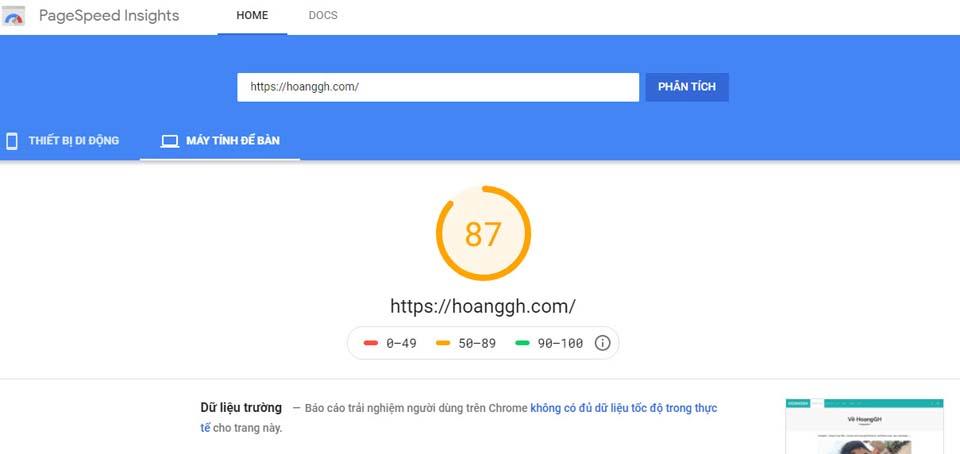 google speed