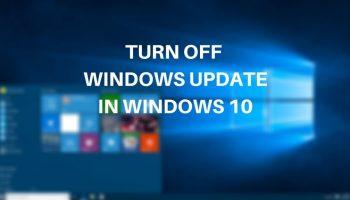cách tắt update Windows 10